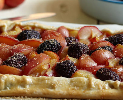 Plum and Blackberry Rustic Tart