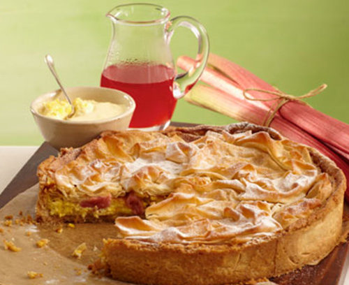 Rhubarb and Custard Pie