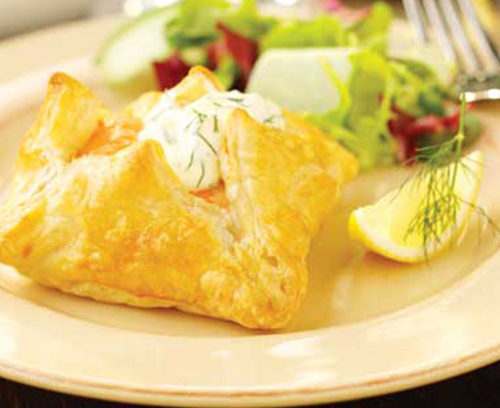 Salmon, Lemon and Dill Puff Parcels