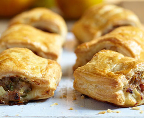 Apple and Bacon Sausage Rolls